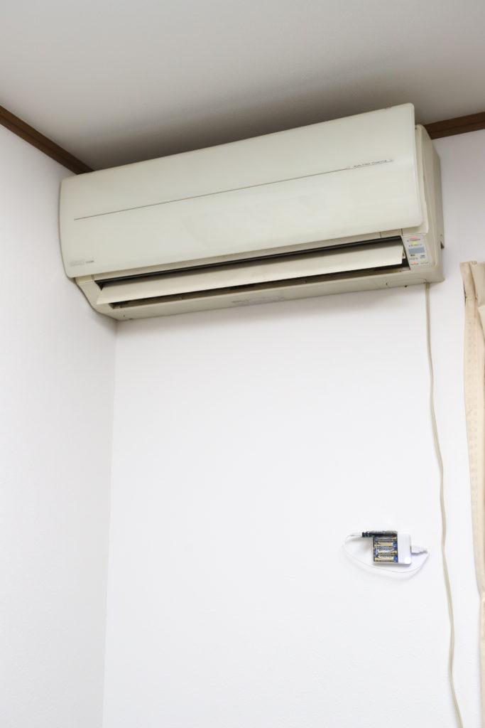 エアコンの近くに装置を設置する