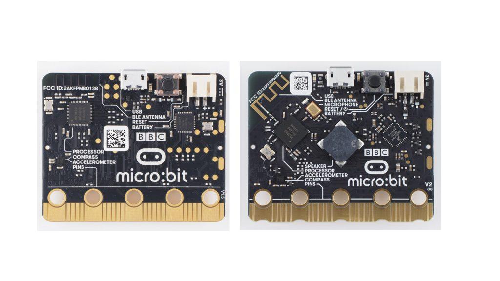 micro:bit V1とV2比較(裏)