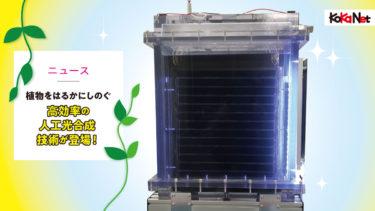 植物をはるかにしのぐ高効率の人工光合成技術が登場!